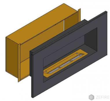 Теплоизоляционный корпус для встраивания в мебель для очага 1800 мм